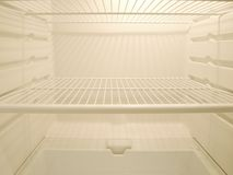 Empty fridge Stock Image