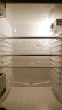 Empty fridge interior, frontal view Royalty Free Stock Image