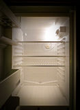 Empty fridge interior, frontal view royalty free stock photos