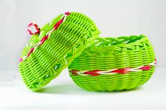 Empty fruit basket Stock Images
