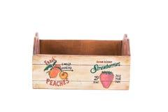 Empty fruit wooden box. Royalty Free Stock Photo