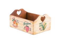 Empty fruit wooden box. Stock Photo