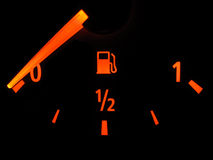 Empty fuel gauge Stock Images