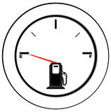 Empty fuel gauge Royalty Free Stock Photos