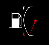 Empty Fuel Gauge. A illustration of a gas pump and empty fuel gauge Stock Photography