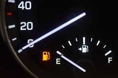 Empty fuel tank sign Royalty Free Stock Photo