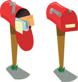 Empty and full Mailboxes stock illustration