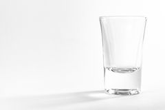 Empty Full Shot Glass Party Drinking Alcohol Beer Whiskey Clear Royalty Free Stock Image