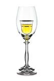 Empty and full wineglass Royalty Free Stock Photography