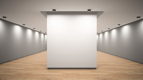 Empty gallery interior 3D rendering Stock Photography