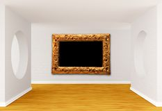 Empty gallery's hall Royalty Free Stock Photography