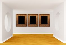 Empty gallery's hall Stock Images