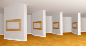 Empty gallery's hall Stock Image