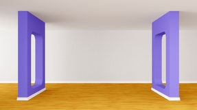 Empty gallery's hall Royalty Free Stock Image
