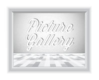 Empty gallery wall with frame Royalty Free Stock Photography