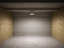 Empty garage Royalty Free Stock Photography