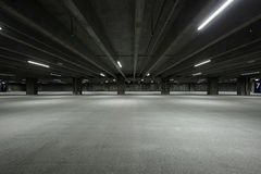 Empty Garage. Empty parking house at night Royalty Free Stock Photos