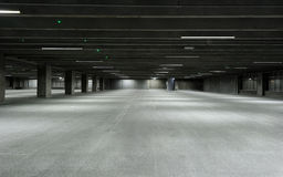 Empty garage. New empty garage with lights turned on Royalty Free Stock Photo