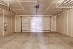 Empty garage interior stock images