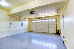 Empty garage in new house Royalty Free Stock Image