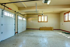 Empty garage. royalty free stock images