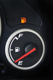 Empty gas tank. Are you driving on empty Royalty Free Stock Photo