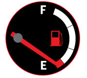 Empty gas tank Royalty Free Stock Image