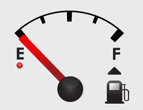 Empty Gas Tank Illustration Stock Photography