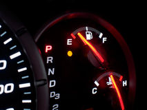 Empty gas tank stock photography