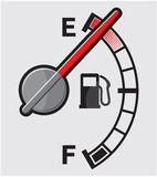 Empty gas tank. Vector illustration of the Empty gas tank Royalty Free Stock Image
