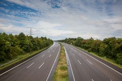 Empty german Highway Royalty Free Stock Photography