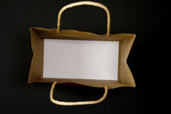 Empty gift bag Stock Photo