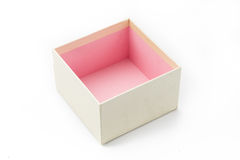 Empty gift box without present pink color inside Stock Photography
