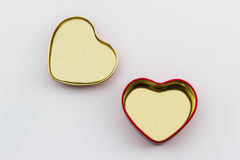 Empty of gift box shaped heart. Royalty Free Stock Photos