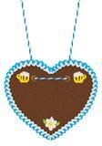 Empty  gingerbread heart Royalty Free Stock Photo