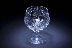 Empty glass. On a black background Royalty Free Stock Images