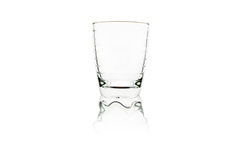 Empty glass. Empty wine glass on white stock photography