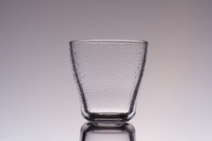 Empty water and juice glass Stock Image