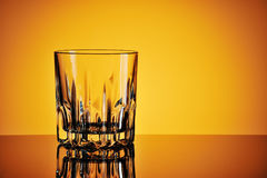 Empty glass for wiskey Stock Images