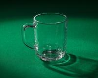 Empty glass beaker Stock Photo