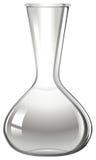 Empty glass beaker on white Stock Images