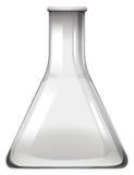 Empty glass beaker on white Stock Image
