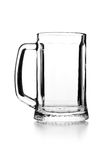 Empty glass for beer Stock Images