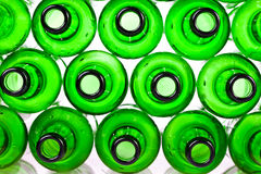 Empty glass beer bottles Stock Photography