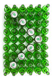 Glass beer bottles and cans.abstract background Royalty Free Stock Images