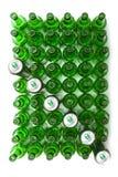 Empty glass green beer bottles Stock Image