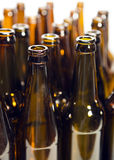 Empty glass beer bottles Stock Photography
