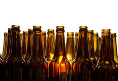 Empty glass beer bottles Royalty Free Stock Image