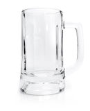 Empty glass for beer isolated on white Stock Images