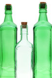 Empty glass bottle with stopper Royalty Free Stock Images